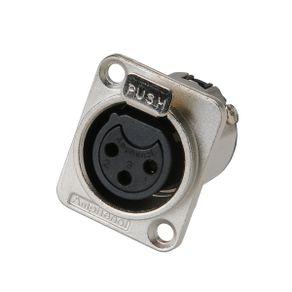 Conector 3 Polos Femea Painel Z AC-3 FDZ - Amphenol