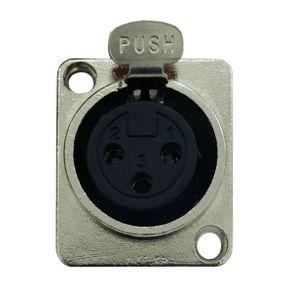 Conector Fêmea de Painel XLR XLR-120 - Soundcast