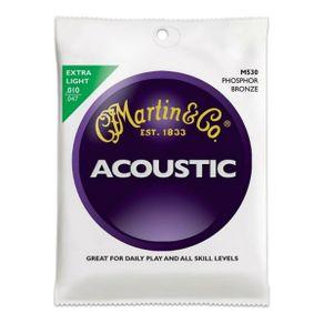 Encordoamento Para Violão Traditional 92/8 Extra Light M-530 - Martin