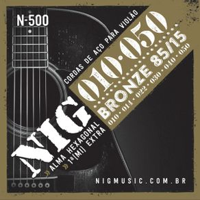 Encordoamento Para Violão Aço N-500 - NIG